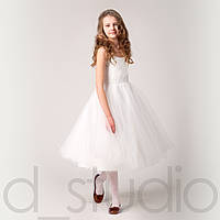 Праздничное платье для девочки белого цвета