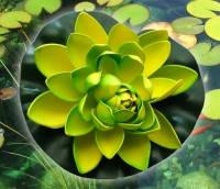 Цветок Лотоса декоративный плавающий 17 х17х5 см(водяная лилия)салатовый