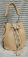 Модная и стильная женская сумка-мешок эко-кожа