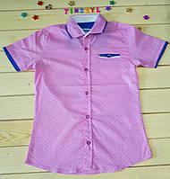Стильная рубашка ,шведка  для мальчика рост 134 см, фото 1
