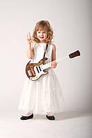 Нарядное белое платье для девочки. Белое нарядное платье для девочки
