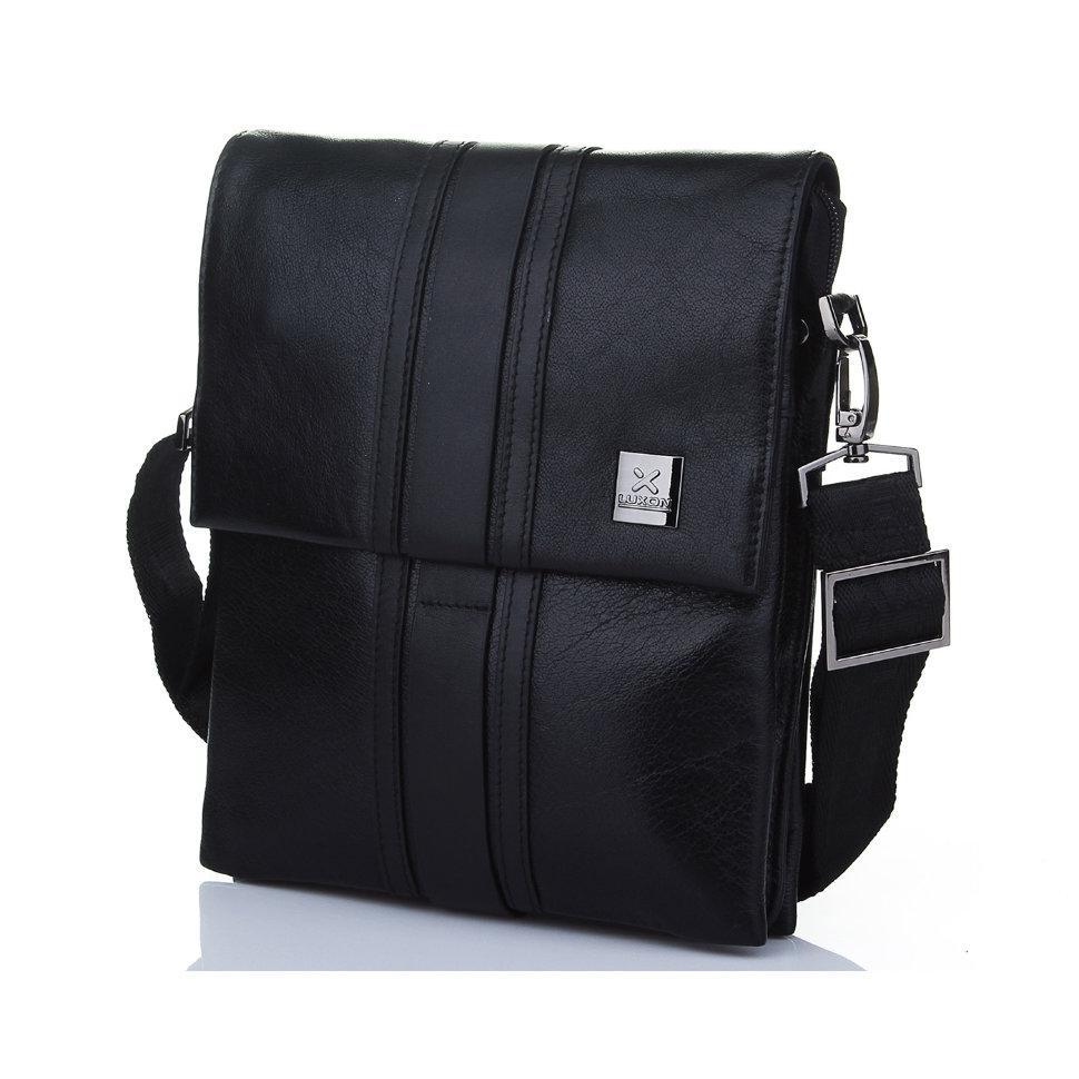 Мужская сумка из глянцевой кожи Luxon 7845-5