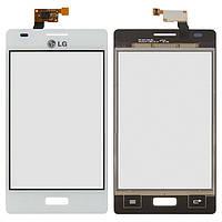 Сенсор LG E610/E612 Optimus L5 (Білий) Original