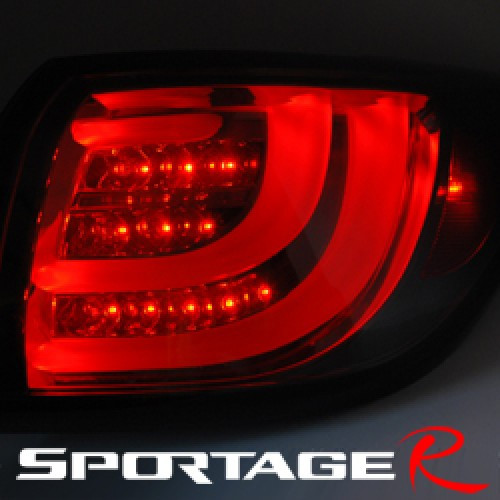 Задняя оптика LED BMW-Style (BLACK EDITION) для KIA Sportage R (AUTO LAMP)