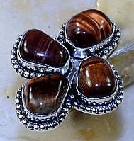 """Шикарний перстень з бичачим оком """"Конюшина"""", розмір 18.8 від Студії www.LadyStyle.Biz"""