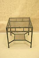 Стол кованый 16 Стекло квадратный.