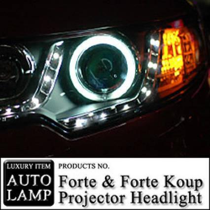 Передня оптика CCFL & LED 2013 Version - KIA Forte / Koup (AUTO LAMP), фото 2