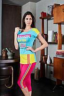 Яркий женский костюм для фитнеса 6758