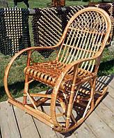 Кресло качалка лозовое плетенное с подставкой для ног  № 12