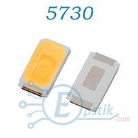 Светодиод 5730 (5630), Белый теплый, 0.5Вт. 3.3в SMD