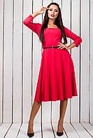 """Расклешенное приталенное платье по колено """"Tchibo"""" с поясом (3 цвета)"""