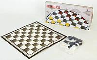 Настольная игра шашки 4817: картон + пластик, размер доски 40х40см