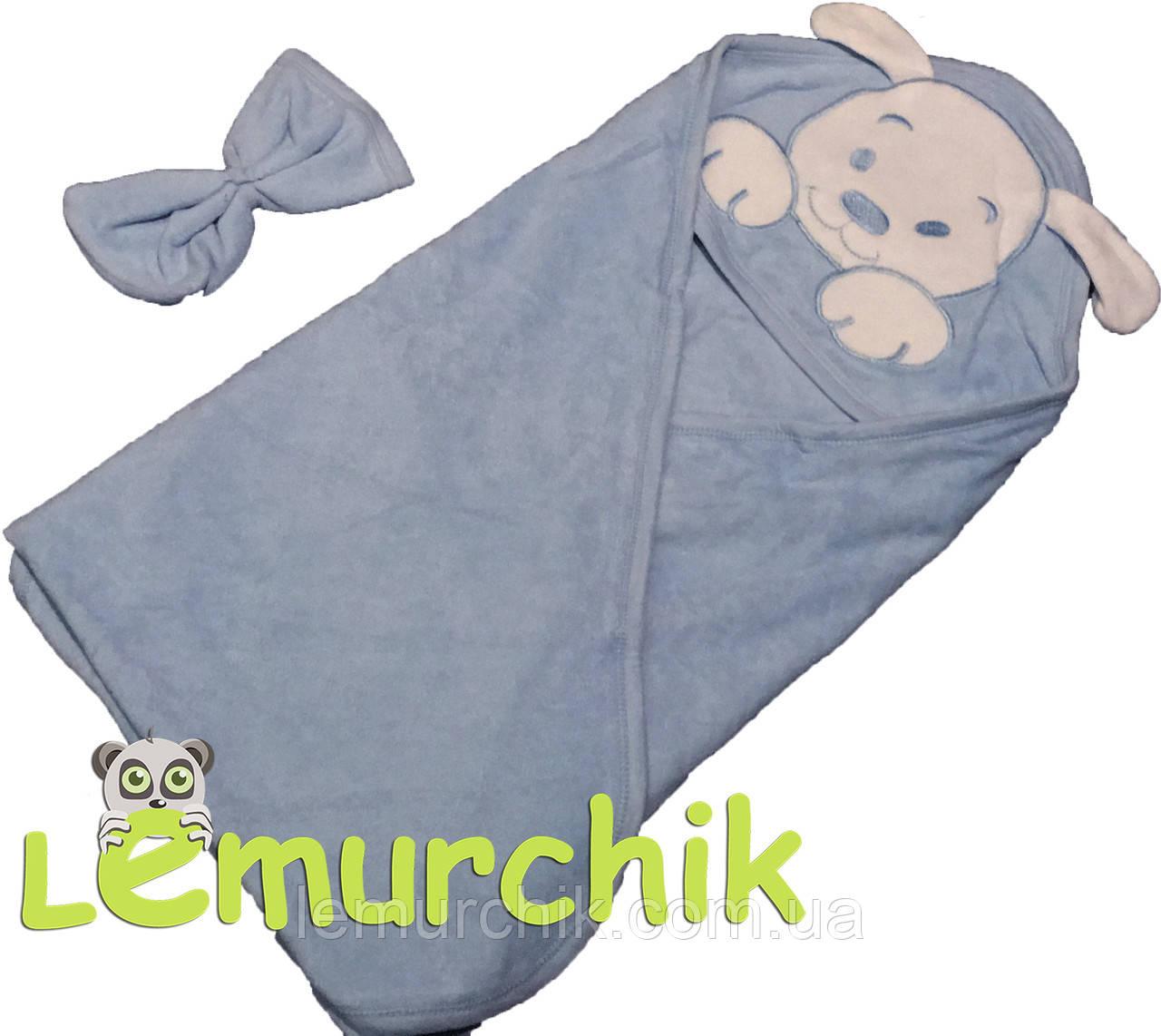Рушник-куточок з капюшоном Lamoda, блакитне