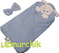 Полотенце-уголок с капюшоном Lamoda, голубое