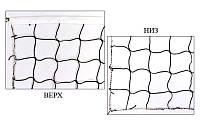 Сетка для волейбола PW-07 (PE 4мм, р-р 9,5x1м, ячейка 10x10см, с метал. тросом), фото 1