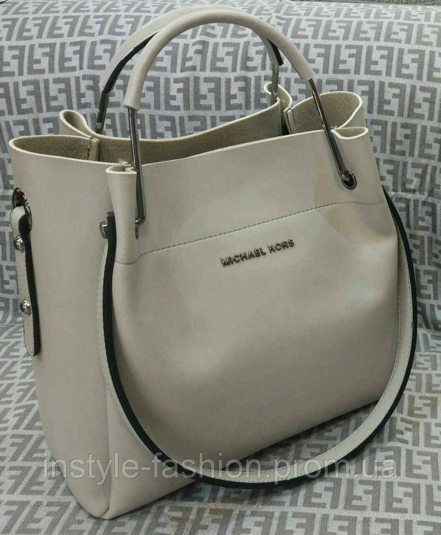 Модная сумка Michael kors MICHAEL KORS серая фурнитура серебро