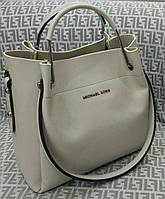 Модная сумка Michael kors MICHAEL KORS серая фурнитура серебро, фото 1