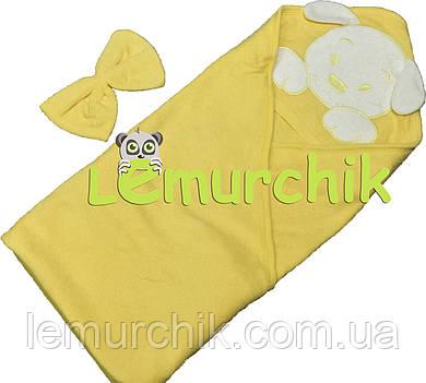 Полотенце-уголок с капюшоном Lamoda, желтое