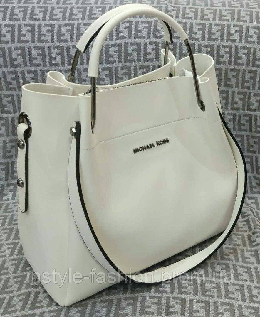 Модная сумка Michael kors MICHAEL KORS белая фурнитура серебро