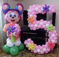 Цифра из воздушных шаров на День Рождения ребенка
