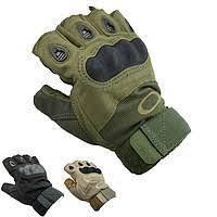 Перчатки тактические усиленные без пальцев р. L, XL, XXL хаки