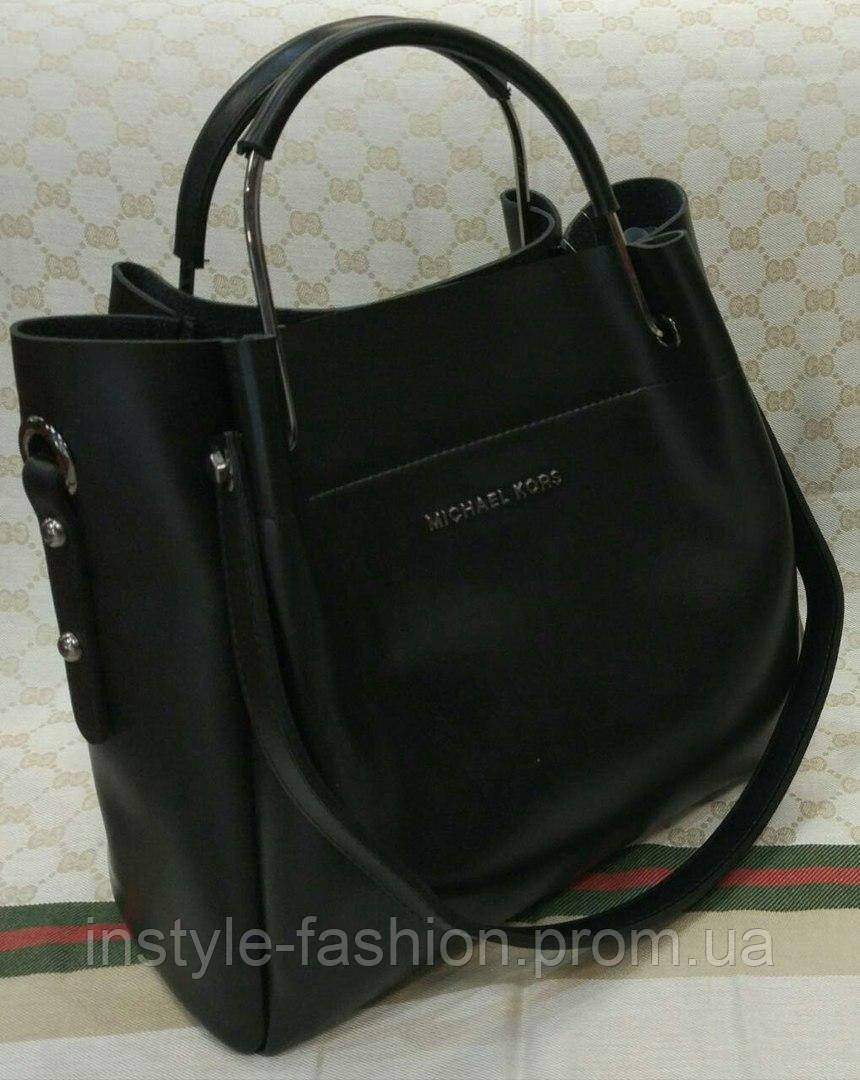 e7ba77d9b73e Модная сумка Michael kors MICHAEL KORS черная фурнитура серебро ...