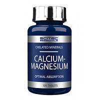 Комплекс минералов кальций-магний Calcium-Magnesium 100 tabs Scitec Essentials