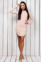 """Короткое облегающее мини-платье """"Нателла"""" с длинным рукавом (3 цвета)"""