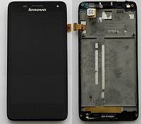 Оригинальный дисплей (модуль) + тачскрин (сенсор) с рамкой для Lenovo S660 (черный цвет)
