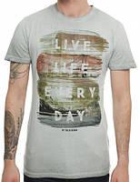 Мужская футболка серая Elit от !Solid в размере L