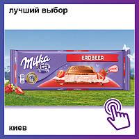 Шоколад Milka Erdbeer Milka Strawberry Милка клубника