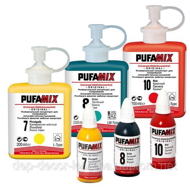 PUFAMIX универсальный концентрат для тонирования. «PUFAS», Германия. Свето и погодостойкие красители