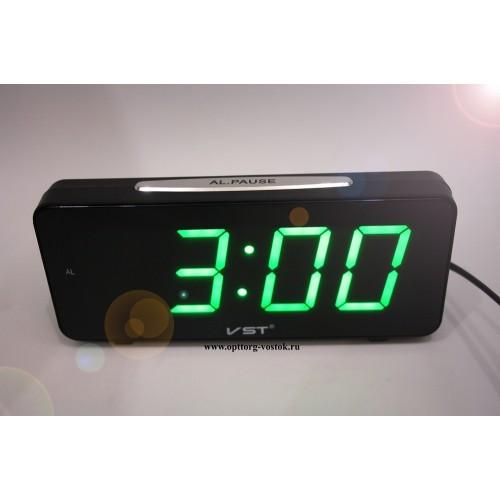 Светодиодные настольные электронные часы VST 763-4 (зеленое табло) -  Интернет-магазин b4b2f9e950e