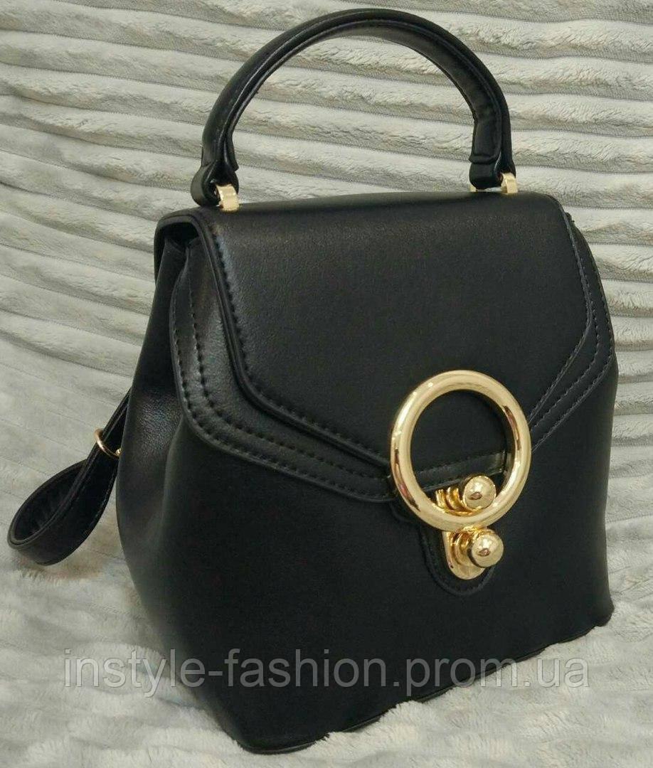 05cba02aa239 Женский модный рюкзак-сумка мини цвет черный - Сумки брендовые, кошельки,  очки,