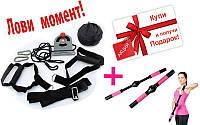 TRX Петли подвесные тренировочные AA-AF5004 + подарок (Тренажер для улучшения формы груди ZD-2203)