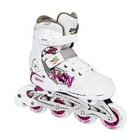 Спортивные роликовые коньки раздвижные, белые Tempish TWIN