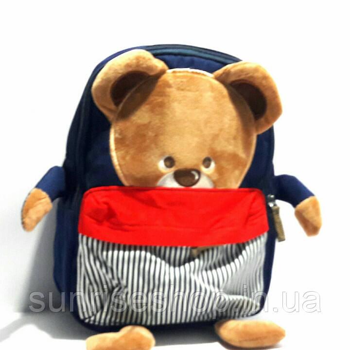 "Рюкзак для мальчика ""Мишутка"" темно синий"