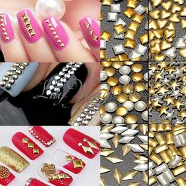 Металлические логотипы и фигурки для дизайна ногтей