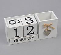 Вечный календарь с подставкой для ручек PR365. Подарки в стиле Прованс