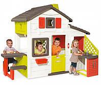 Домик детский игровой My House Smoby - Франция - с летней кухней и набором посуды