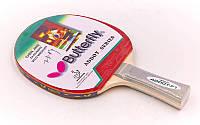 Ракетка для настольного тенниса 1 штука Дубл. BUT MT-4427 Addoy-F1 3star (древесина, резина)