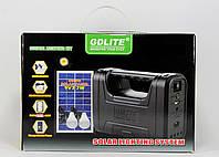 Портативный аккумулятор-фонарь с солнечной панелью GDLite GD-8038