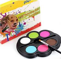 "6 цветов краска боди-арт для лица макияж на хэллоуин, вечеринку ""Popfeel №2"" make up 12 грамм"