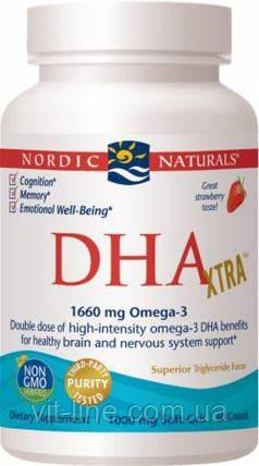 Nordic Naturals ДГК Омега-3 (DHA Xtra) со вкусом клубники 1000 мг 60 капсул, фото 2