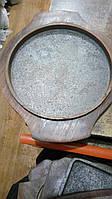 Сковорода порционная чугун на деревянной подставке круг 190 мм