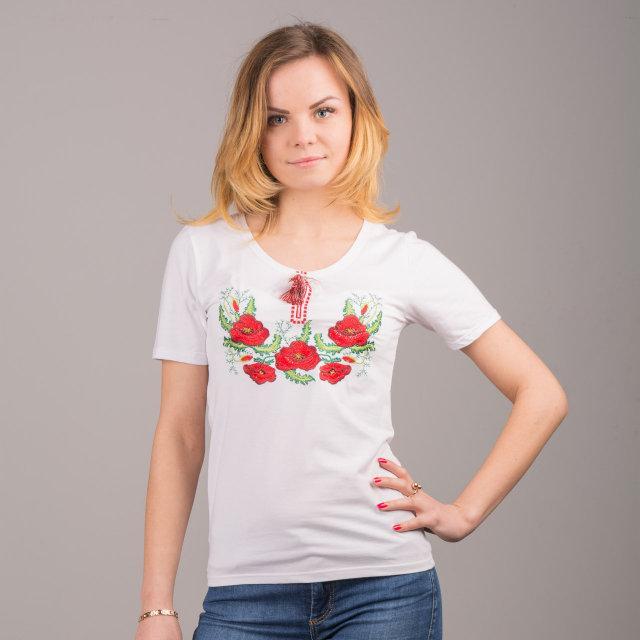 Мак 2 футболка с вышивкой