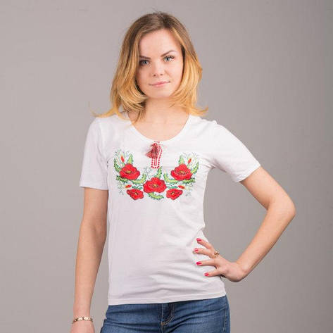 Мак 2 футболка с вышивкой, фото 2