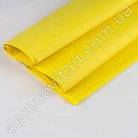 Бумага тишью, желтая, 50 на 75 см