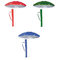 Торговый зонт круглый с серебряным напылением и клапаном