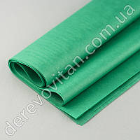 Бумага тишью, зеленая/изумруд, 50 на 70 см (есть дефекты), 10 листов